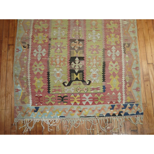 Islamic Vintage Kilim Rug - 4'2'' X 5'11'' For Sale - Image 3 of 6