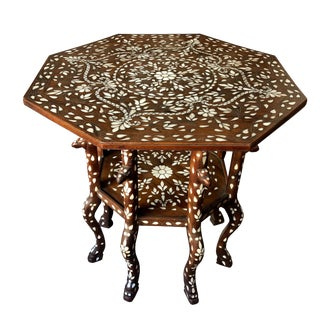 Mid- 19th Century Mother of Pearl Inlay Moorish Style Center Table For Sale