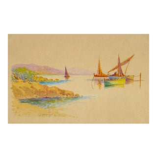 Original Rainbow Harbor Painting, C. 1940
