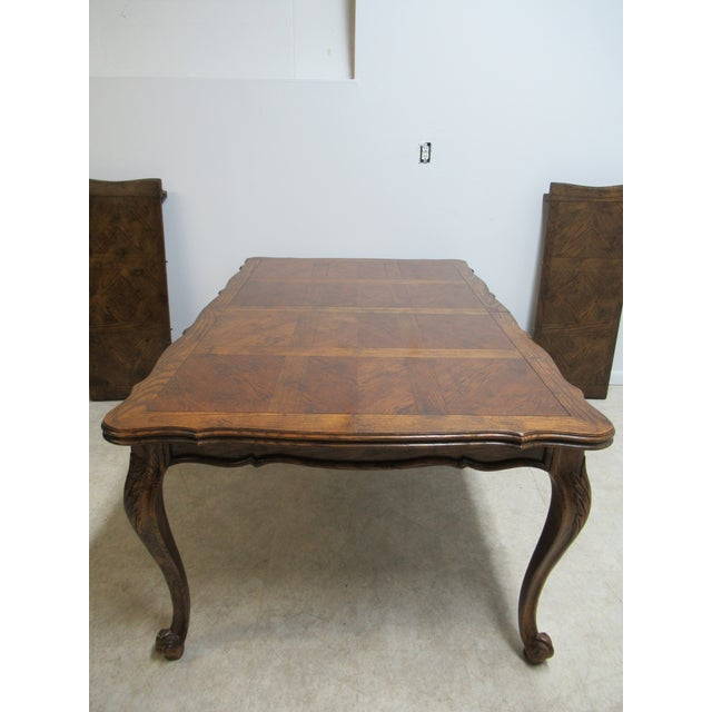 Wood Vintage Century Furniture Country French Oak DiningTable For Sale - Image 7 of 13