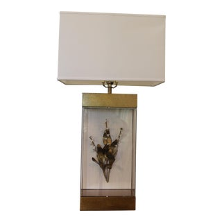 Cottage Style Lily of the Valley Giltwood and Lucite Table Lamp For Sale