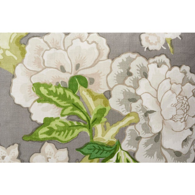 Contemporary Schumacher Double-Sided Pillow in Bermuda Blossoms Print For Sale - Image 3 of 5