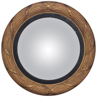 19th Century Giltwood Convex Mirror For Sale