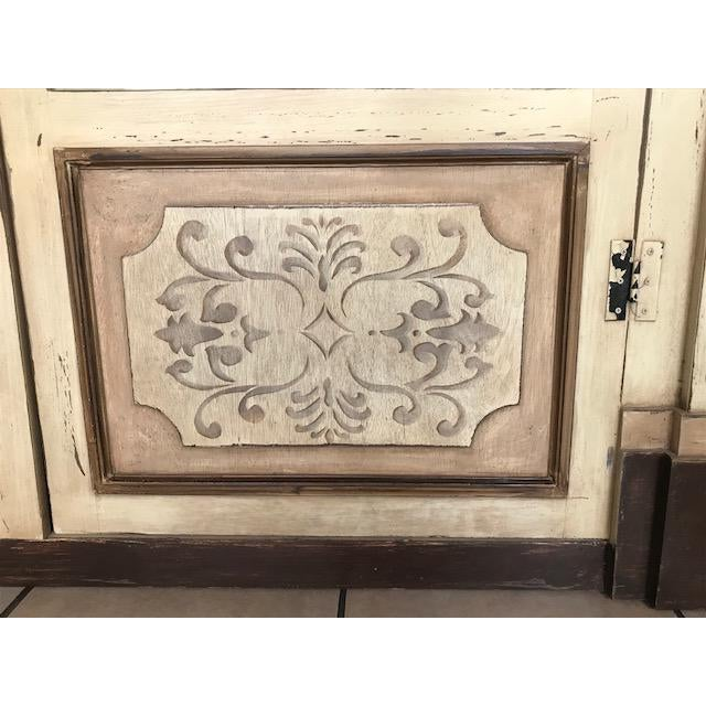 Gray Stenciled Brazil Baroque Cabinet For Sale - Image 4 of 8