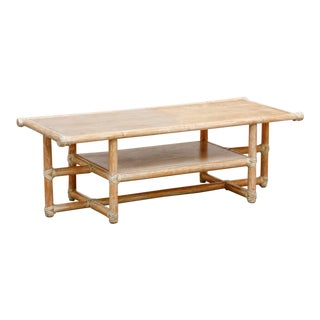 McGuire Cerused Bamboo and Wood Coffee Tables For Sale