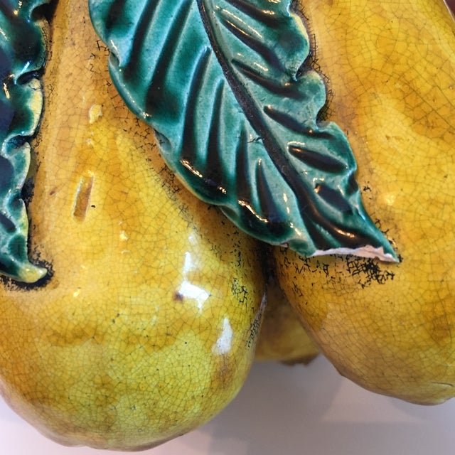 Red Ceramic Decorative Fruit Figs - A Pair For Sale - Image 8 of 8