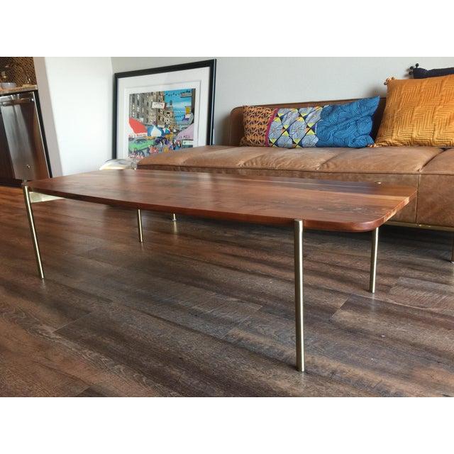 CB Adam Acacai Wood Coffee Table Chairish - Cb2 adam coffee table