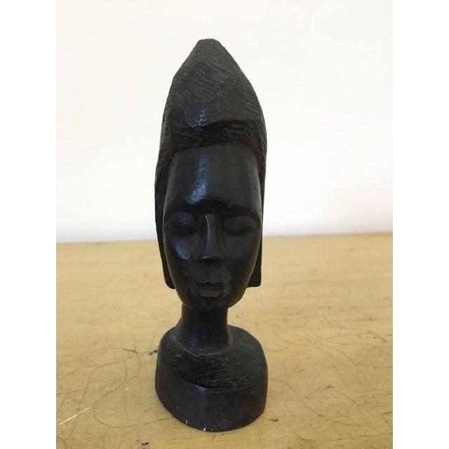 Vintage Tribal Carved Bust - Image 2 of 4