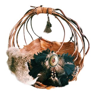 Vintage Native American Style Handmade Basket