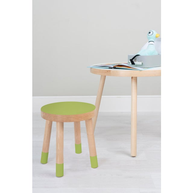 Poco Solid Maple Wood Kids Chair. Color is catnip for kids, with bright and bold top and toes our Poco stool becomes a...