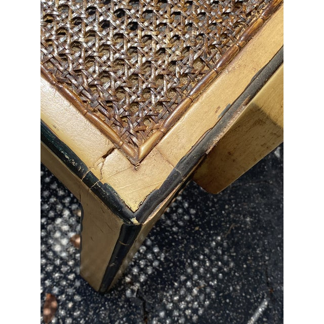 Vintage Bamboo Fretwork Armchair For Sale - Image 10 of 11
