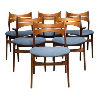 Mid-Century Eric Buch Rosewood and Teak Dining Chairs C.1960 - Set of 6 For Sale