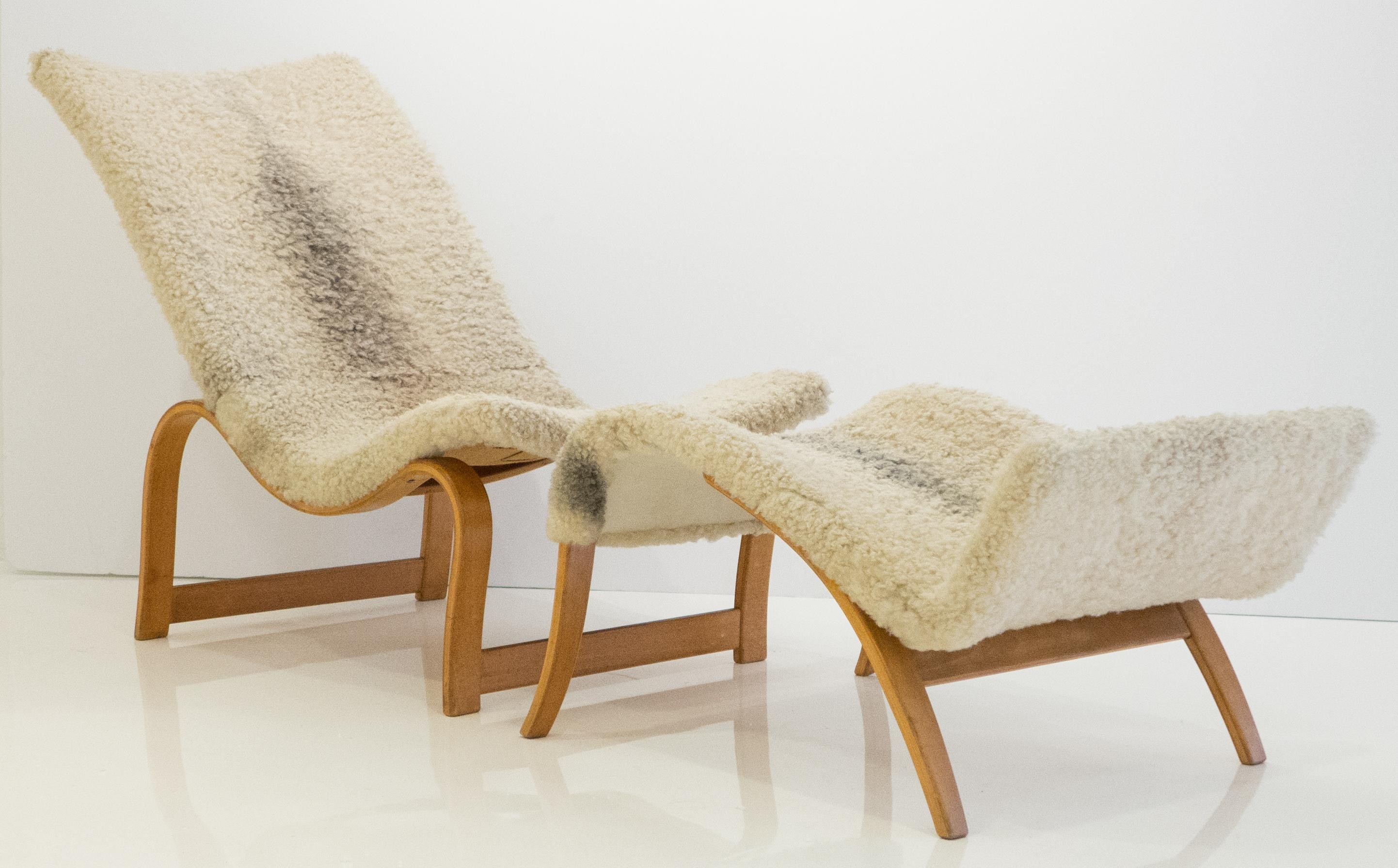 Bruno Mathsson Model 36 Easy Chair With Footrest   Image 4 Of 11