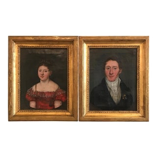 European Portraits of an Aristocratic Couple, 1819 - A Pair For Sale