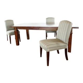 Contemporary Restoration Hardware Dining Set - 4 Pieces For Sale