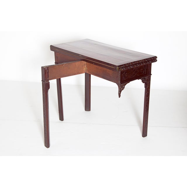 Green Mid-18th Century Early George III Mahogany Card Table For Sale - Image 8 of 13
