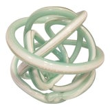 Image of 1950s Vintage Hand Blown Sculptural Cased Glass Knot For Sale