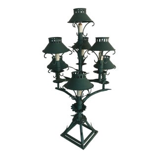 Tole Chandelier Lamp For Sale