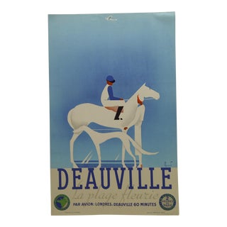 """""""Deauville La Plage Fleurie"""" French Poster For Sale"""