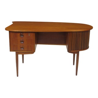 Kai Kristiansen Teak Bullet Desk For Sale