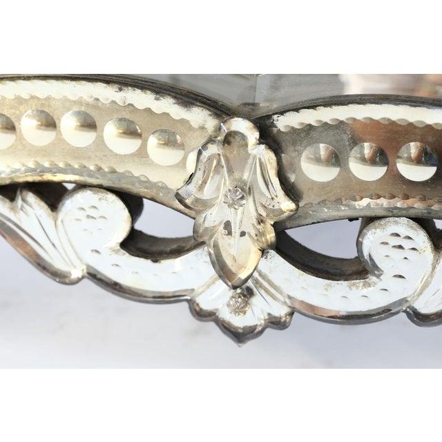 Wood Vanity-Top Venetian Mirror For Sale - Image 7 of 12