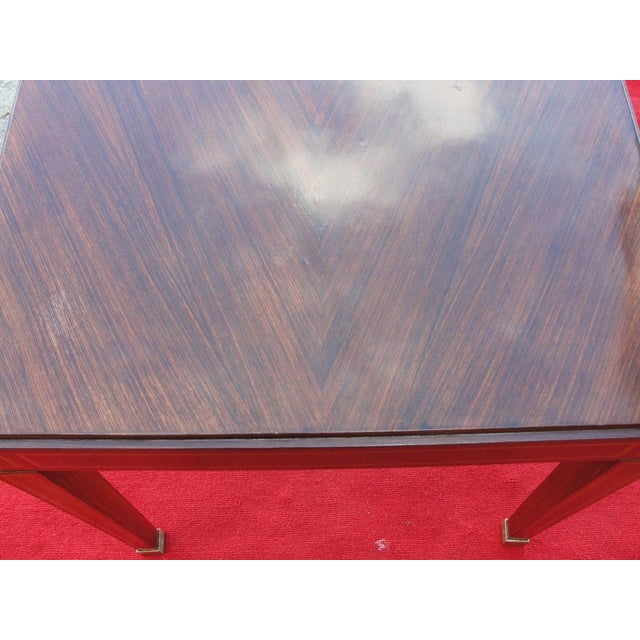 Jacques Adnet Jacques Adnet Table in Palisandro Veneer For Sale - Image 4 of 6