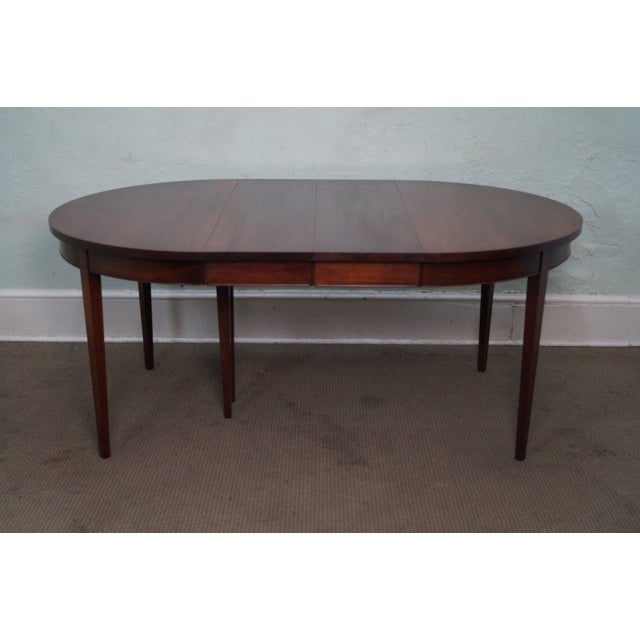 Vintage Solid Mahogany Extension Dining Table - Image 9 of 10