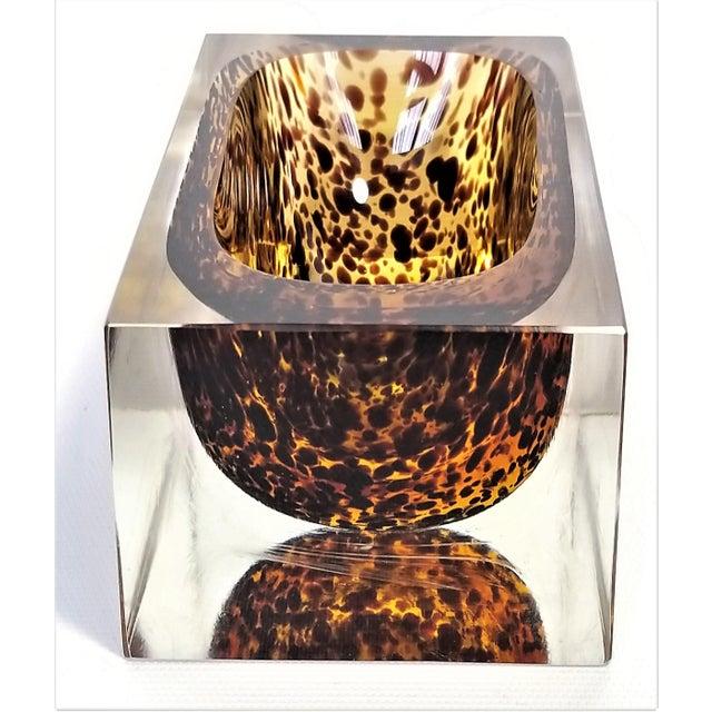 Alessandro Mandruzzato Exquisite Murano Glass Tortoiseshell Bowl by Alessandro Mandruzzato For Sale - Image 4 of 13