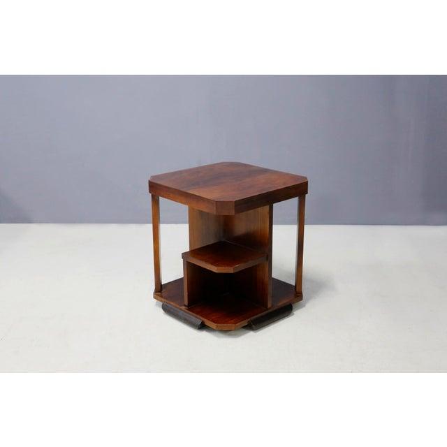 Burnt Umber Art Decò Walnut Coffe Table For Sale - Image 8 of 8
