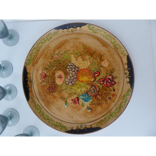 Hand Painted Tray & Crystal Liqueur Glasses-Set of 9 For Sale In Portland, OR - Image 6 of 8