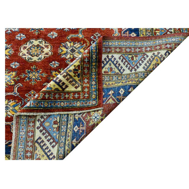 Afghan Afghan Super Kazak Rug - 5'9'' x 7'9'' For Sale - Image 3 of 4