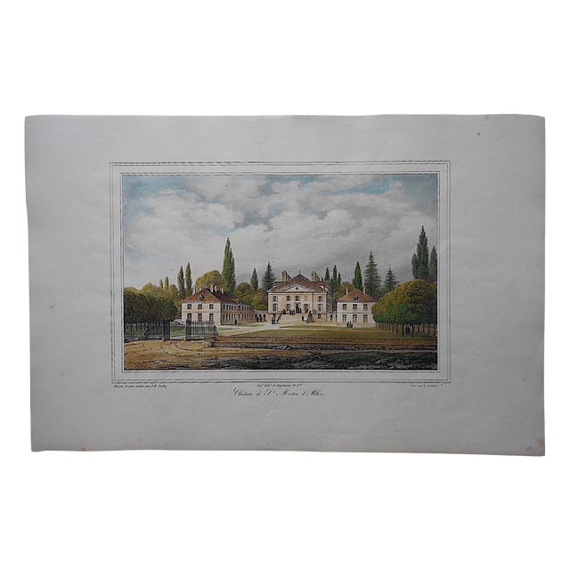 Antique Chateaux De France Lithograph - Image 1 of 3