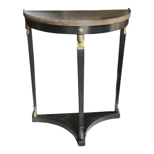 1920s French Empire Demi-Lune Table For Sale