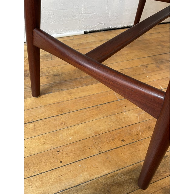 Wood 1950s Hans Wegner Piano Stool in Teak and Black Leather For Sale - Image 7 of 10