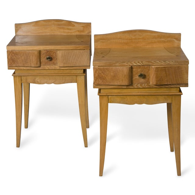 French Oak Inlaid End Tables - Image 2 of 7