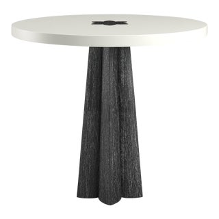 Danielle Side Table - Black Cerused Oak - Simply White For Sale