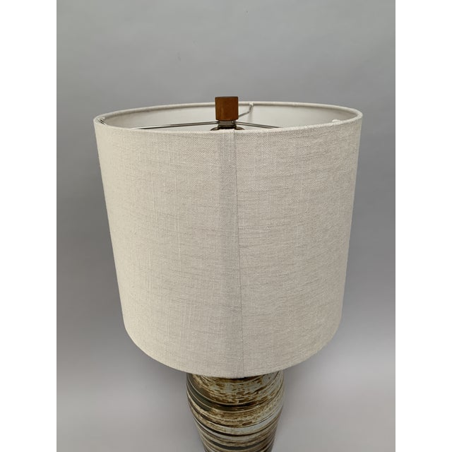 Wood Mid-Century Modern Ceramic Lamp by Jane and Gordon Martz For Sale - Image 7 of 12