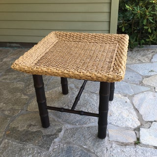 Contemporary Bamboo/Rattan Side Tables - a Pair Preview