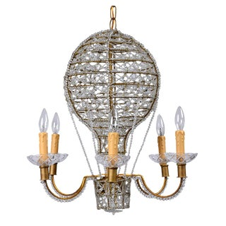 Vintage Italian Hot Air Balloon Chandelier