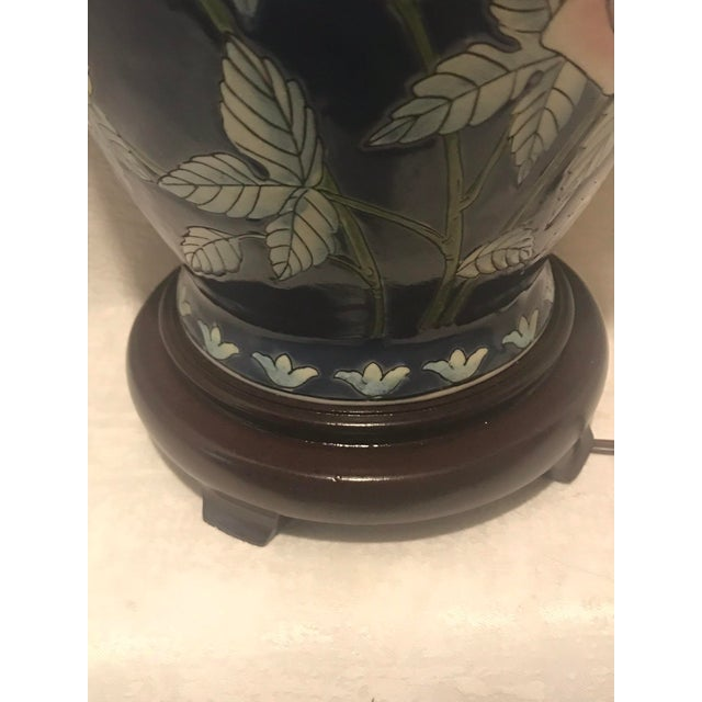 Vintage Chinoiserie Ginger Jar Lamp For Sale In Miami - Image 6 of 7