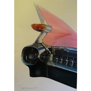 Harold Cleworth '59 Cadillac 1979 Signed & Numbered Art Print For Sale