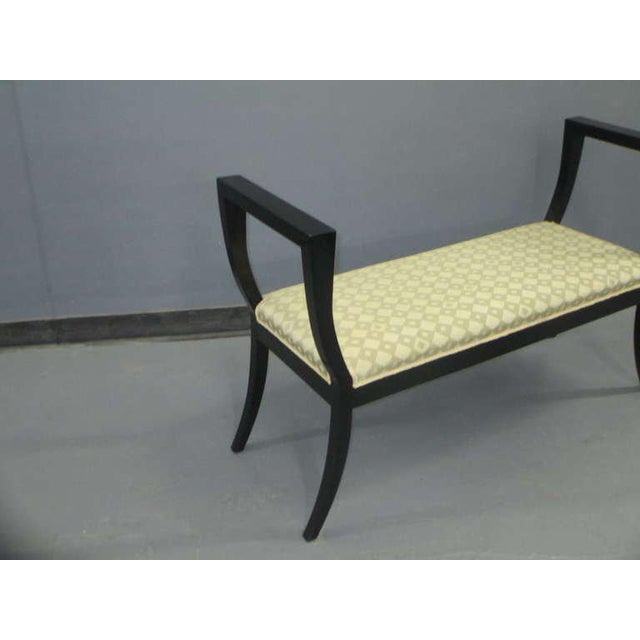 1950s A Sculptural Lacquered Bench in the Neoclassical Manner For Sale - Image 5 of 6