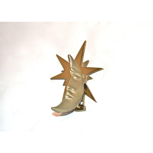 Moon and Star Healy Brass Door Knocker For Sale - Image 9 of 10