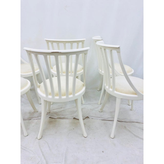 Set Vintage Poltrona Frau Dining Chairs For Sale - Image 10 of 13
