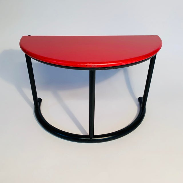 Mid-Century Modern Gianfranco Frattini Demilune Side Table For Sale - Image 3 of 13