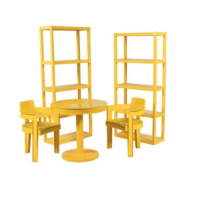 Syroco Mid Century Sunshine Dining Room Set - Set of 5 - Image 3 of 3