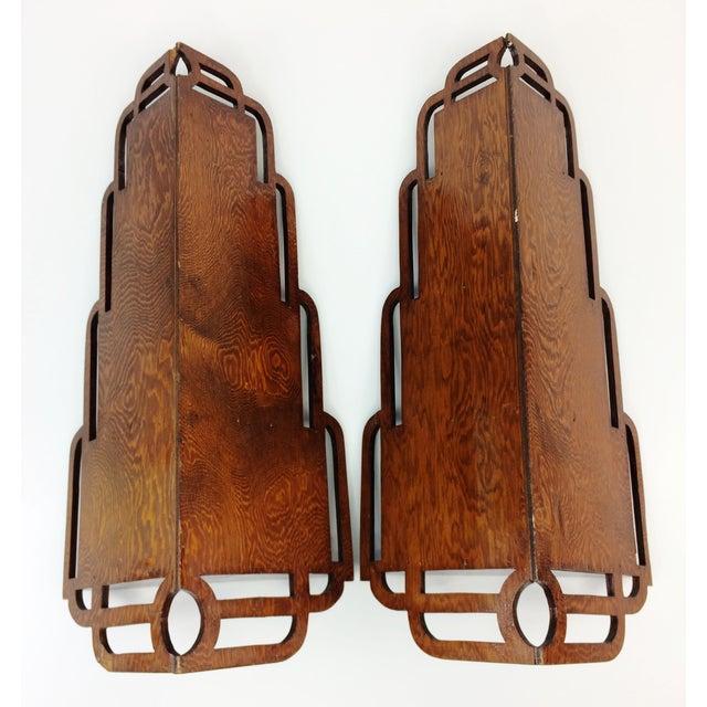 Vintage Wood Corner Curio Display Shelves - A Pair - Image 5 of 6