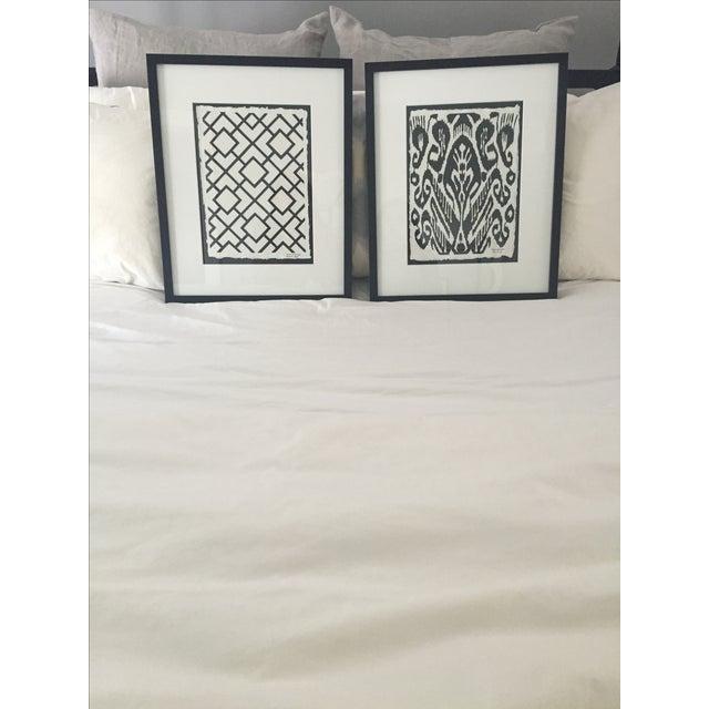 Framed Ikat Handmade Art - Pair of 2 - Image 2 of 10