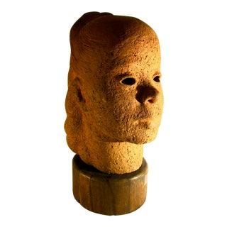 Portrait Bust by Mar Carter 1951 Stoneware Sculpture For Sale