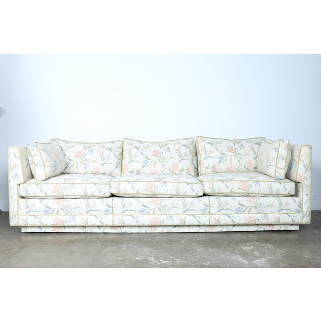 Mid-Century Modern Floral Sofa - Image 2 of 10